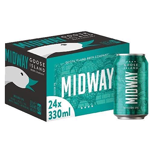Goose Island Midway Birra, Lattina - Pacco da 24 x 330 ml