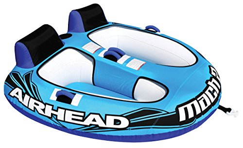 House Deals Holiday Inflatables Towable Water Sport Pool Toy Inflation Double Rider Cockpit Lake Tube Mach 2