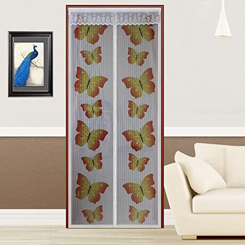 Sommer Haushalt neue Schmetterling elektromagnetische Tür Bildschirm Fenster Netz Bildschirm Bildschirm Vorhang Anti-Moskitonetz Insekten Magie Moskitonetz A1 B80xH210