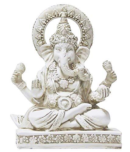 Bellaa Ganesha Statue Lord Ganapati Idol Blessing Ganesh Sculpture Elephant Hindu Buddha God Meditation Budda Figurine Home Decoration