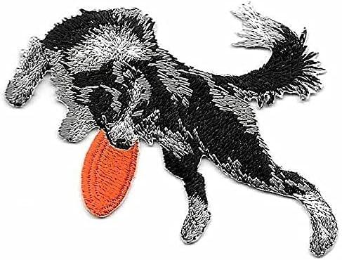35% OFF 2 1 2'' x 3 8'' Border gift Collie Frisbe Breed Catching Orange Dog