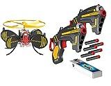 Hovertech - 7817 - Jeu De Tir - Drone Deluxe + 2 Pistolets Et Projectiles - Battle FX