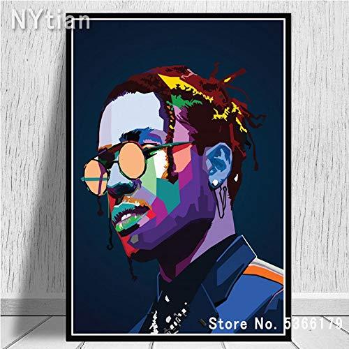 wtnhz Kein Rahmen Tyler Travis Scott Cole Pac Biggie RapperStar Poster Drucke Malerei Wandkunst Leinwand Bild Wohnzimmer Wohnzimmer Dekor 50x60cm