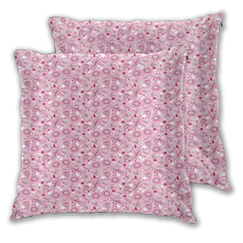 FULIYA Funda de cojín decorativa, diseño floral con mariposas, detalles románticos dibujados a mano, funda de cojín de 55,8 x 55,8 cm para el hogar, sofá o dormitorio.