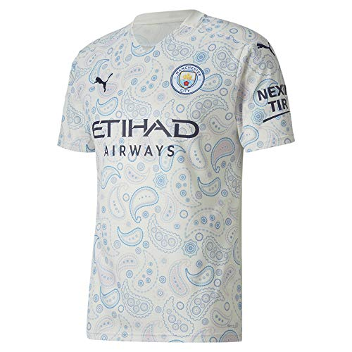 PUMA Men's Soccer Manchester City 20/21 Third Jersey (Medium) White