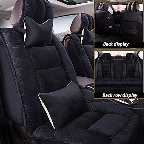 Cubiertas de asiento personalizadas Asiento de piel de oveja de piel coche cubre talla universal for Citroen Todos los modelos C4 C5 C6 C3 Elíseo Xsara Picasso C-Quatre Diseño de automoción