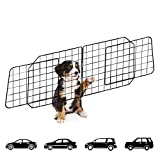 Urban Deco Dog Guard for Cars | Pet Car Barrier with Front Seat Net For Travel | Adjustable Heavy Duty Organizer, Portable, Flexible, Foldable Mesh Wire Barriers for SUV, Cars, Vehicles (Black)