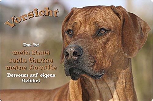 +++ RHODESIAN RIDGEBACK - Metall WARNSCHILD Schild Hundeschild Sign - RRB 36 T1