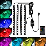 Favoto Luci LED Interne Auto, 4 Strisce 48 Lampadine Multicolore Impermeabili, Kit RGB di ...