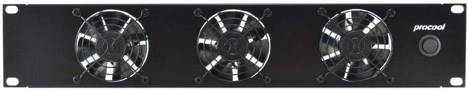 PROCOOL TV380 2U Rack Mount Intake Fan/High Power Cooling System Network Servers Data Center Industrial 19