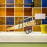 Danse Ailes Passe-temps VX10 1/18 De Havilland Tiger Moth 400mm Envergure En Bois Avion Statique Modèle Craft Ameublement En Bois Cadeau pour Enfants Et Adultes