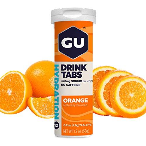 GU Energy Hydration Electrolyte Drink Tablets, Orange, 4-Count
