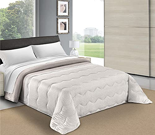 HomeLife Tagesdecke für französisches Bett, gesteppt, 100 Gramm, 220 x 260 cm, für Doppelbett, Sommer, Frühling, Mikrofaser, leichte Decke