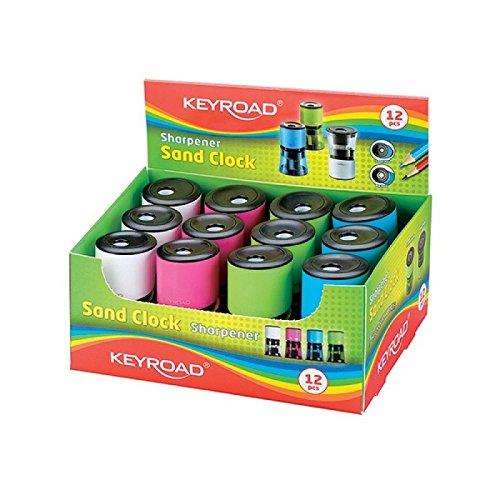 Keyroad KR970852 - Pack de 12 sacapuntas con depósito: Amazon.es: Oficina y papelería