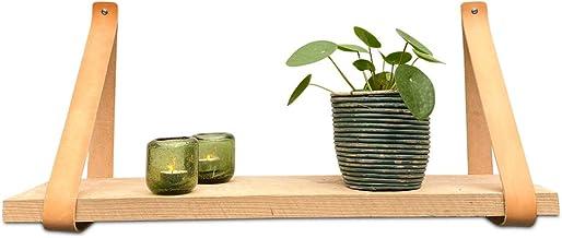 Brute Strength - Leren plankdragers - Naturel - 2 stuks - Leren wandsteun - plankendragers - echt leer