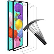 ANEWSIR for Samsung Galaxy A51/A51 5G Screen Protector (3 Pack) with【Easy to Apply】【Ultra-thin】【No Bubbles】【9H Hardness】【Scratch Resistance】 Tempered Glass Screen Protector for Samsung A51/A51 5G