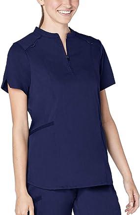 Adar Responsive Scrubs for Women - Active Stand Collar Scrub Top
