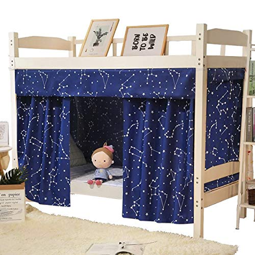 Printed Bunk Bed Curtain Dormitory Blackout Curtain Single Bed Tent Curtain Student Cloth Shading Canopy Spread Curtain Mosquito Net Student Sleep Privacy Protection Net Bunk Bed Screen