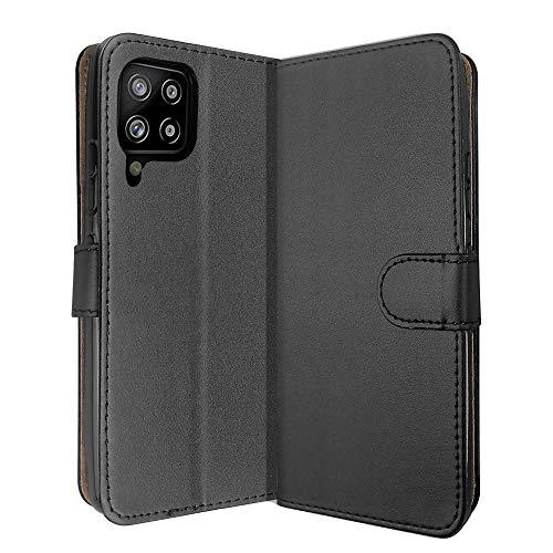 SDTEK Hülle für Samsung Galaxy A42 5G (Schwarz) Tasche Leder Flip Hülle Brieftasche Book Etui Schutzhülle Handyhülle