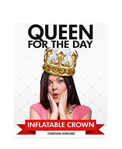 """Preis am Stiel Corona gonfiabile """"Queen for The Day"""", articolo per feste, party, festa a tema, compleanno, addio al nubilato, Carnevale, per incoronare la regina del giorno"""