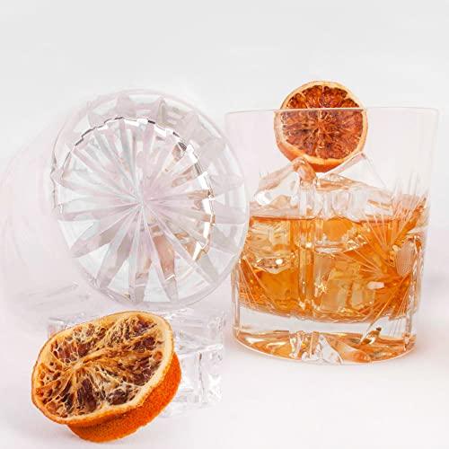 2 Vasos bajos de cristal tallado a mano para Whisky, Vermú y licores   250 mL SCOTLAND