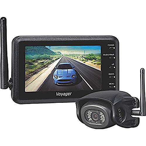 """Voyager WVHS43 Digital Wireless Prewire Camera System; Includes 1 WVOM43 Monitor 4.3"""" and 1 WVH100 wired Camera; Supports up to 4 Additional Wireless Cameras WVCMS130AP"""