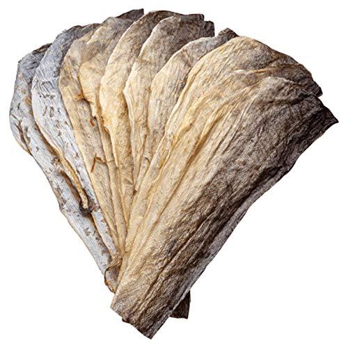 Bottarga Boreale – Pelli di Stoccafisso Norvegese Essiccate – Fish Snack – 5 pezzi – Ideale per Creare Chips e Crackers