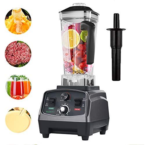 Blender Smoothie Maker, 2200W 5-speed automatische fruitpers, 2L BPA-vrije Tritan-container, snelle professionele blender met voor ijs/noten/soep/saus