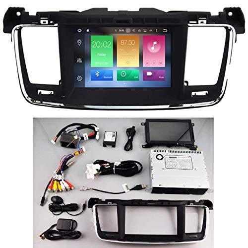 KasAndroid AUTORADIO Android 10.0 Compatible con Peugeot 508 Octa Core, 4GB RAM, 64 GB ROM GPS Radio Coche WiFi 4g CD SD DVD navi navegador Pantalla