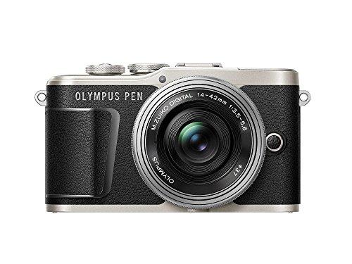 Olympus Pen E-PL9 - Cámara de Sistema Compacto de 16 MP (Pantalla de 3', Zoom eléctrico, películas 4k, WiFi, Kit con Objetivo Compacto M. Zuiko Digital ED de 14-42 mm), Negro y Plateado