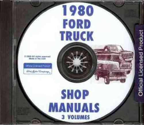 1980 FORD TRUCK & PICKUP FACTORY REPAIR SHOP & SERVICE MANUAL CD INCLUDES F100, F-150, F-250, F-350, F-Super Duty, long and short beds, Super Cabs and Crew Cabs; Bronco 80