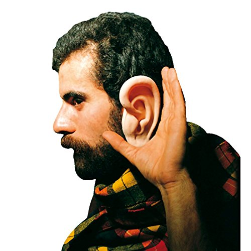 Amakando Riesenohren Riesige Ohren EIN Paar Latex Segelohren Wissenschaftler XXL Latexohren Mega Scherzartikel Riesen Lauscher Faschingsohren Giant Ears