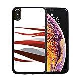 WYYWCY American Symbol Adler mit usa Fahnen Apfel Telefon xs max case Displayschutzfolie TPU Hard Cover mit dünner stoßfester stoßfänger schutzhülle für Apple Phone xs max 6,5 Zoll