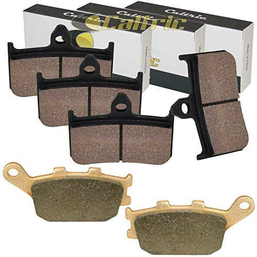 Caltric Front and Rear Brake Pads Compatible With Honda VTR1000F Superhawk 1000F 1998-2005