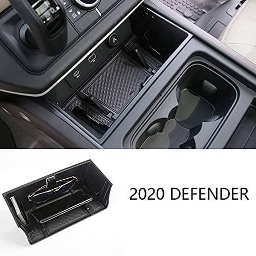 SHIFENG Para Land Rover Defender 110 130 2020 2021 2022 coche interior consola central caja de almacenamiento teléfono gafas bandeja organizador accesorios estilo actualización