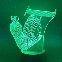 タタパイカタツムリLedナイトランプキッズルームアニマルランプ子供用ノベルティギフトナイトライト3D装飾ランプ
