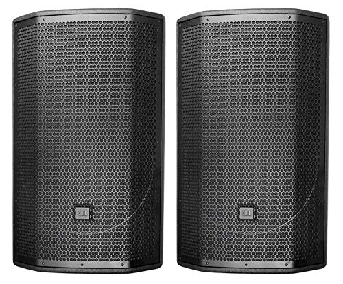 "(2) JBL PRX815W 15"" 3000w Powered Speakers Active Monitors Wood Cabinets w/Wi-Fi"