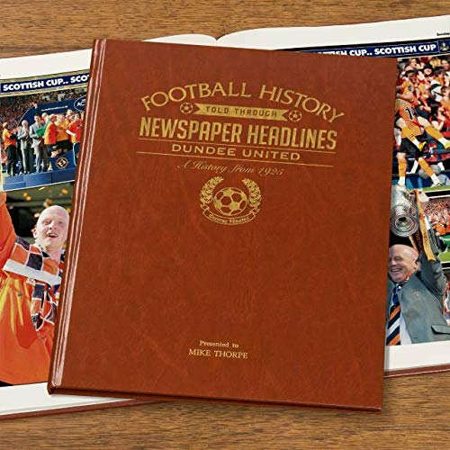 Signature gifts Premium Personalised Football Newspaper Book - Dundee United