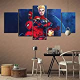 ZKSB Wall Art Painting Marvel Ultimate Alliance 3 The Dark Order Art Collection Gifts Restaurant Kitchen Canvas Painting 100X50Cm Frameless