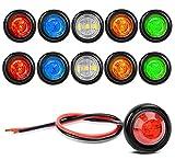 GUUZI 10 Confezione Luci LED Impermeabili per Barche Marine, Illuminazione Subacquea a LED...