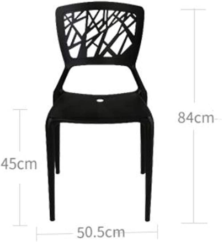Solide Simple Chaise Bureau étudiant et Chaise de Maquillage Tabouret Retour à la Maison à Manger Chaise d'ordinateur Stable (Color : Orange) Black