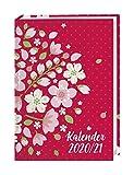 Floral 17-Monats-Kalenderbuch A5 - Taschenkalender 2021 mit Wochenkalendarium - gebunden mit flexiblem Einband - Format 15,2 x 21,5 cm