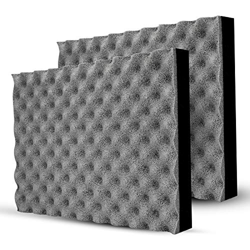 BXI Soundproofing Closed Cell Foam - Self-adhesive - Great for Noise & Thermal Insulation - 16'' X 12'' X 1.8'' (Gray)