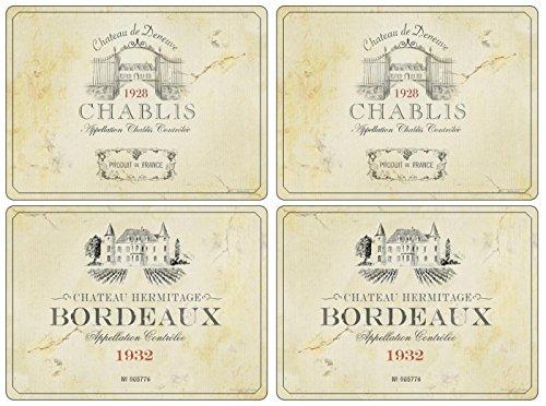 Tovagliette all'Americana Vin de France di Pimpernel - Set di 4 (Grandi)