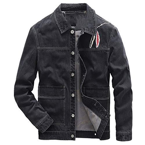 Ropa de trabajo de los hombres chaqueta de mezclilla primavera y otoño chaqueta de los hombres