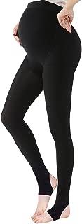 OLCHEE Women's Maternity Pregnancy Tights Warm Fleece Lined Legging Black