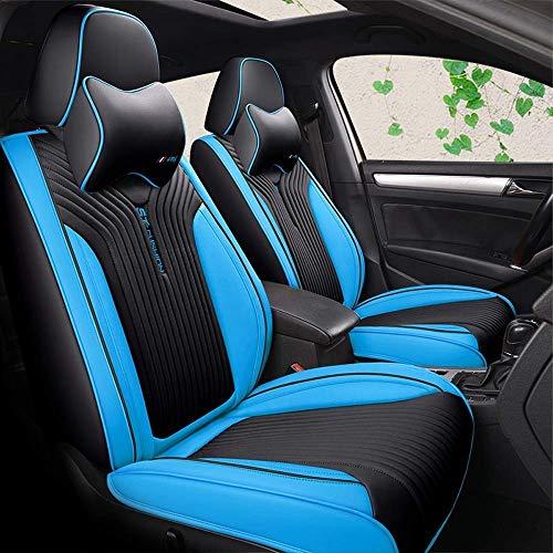 SAMER stoelhoezen voor auto universele volledige 9 set voor en achter universele bestendige hoezen set, auto-interieur accessoires universele auto stoelhoezen beschermer Blauw