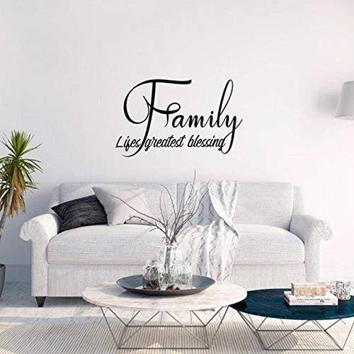 Muursticker muur citaat wandtattoo familie vinyl wandsticker wooncultuur woonkamer housewarmingsparty zelfklevende folie voor meubels