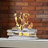 Regal Flame 10 Piece Set of Ceramic Wood Large Gas Fireplace Logs Logs for All Types of Indoor, Gas Inserts, Ventless &...