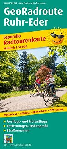 GeoRadroute Ruhr-Eder: Leporello Radtourenkarte mit Ausflugszielen, Einkehr- & Freizeittipps, wetterfest, reißfest, abwischbar, GPS-genau. 1:50000